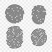 Fingerprint Vector Logo Or Finger Print Scan For Id Security Access Icon. Thin Line Art Design poster