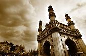 picture of charminar  - 400 year old historic charminar monument in HyderabadIndia