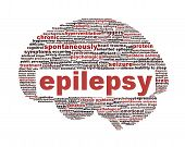 Epilepsy symbol isolated on white