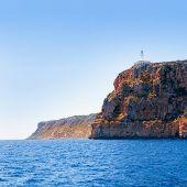 Formentera Faro de la Mola lighthouse view from sea poster