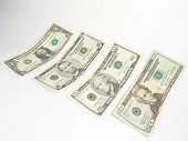 stock photo of twenty dollar bill  - it is a symbol of cash - JPG