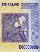 picture of billion  - Part of expired Zimbabwean bill of ten billion dollars - JPG