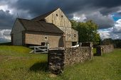 Storm Weather Clouds Over A Barn In The Country