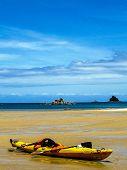 Постер, плакат: Kayak комаров залив Национальный парк Абель Тасман Новая Зеландия