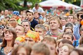 MOSCOW - JUN 23: People at concert of Chaif rock-band during VII traditional festival of live sound