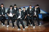 MOSCOW - APR 1: On stage band, called 158 on Hip Hop International - Cup of Russia 2012 in The Palac