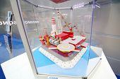 MOSCOW - MAY 23: Offshore ice-resistant stationary platform Prirazlomnaya produced by Sevmash at Rus