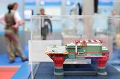 MOSCOW - MAY 23: Model of offshore oil base at Russia Marine Industry Conference 2012 in Gostiny Dvo