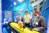 MOSCOW - MAY 23: Demonstration of autonomous unmanned Tethys at Russia Marine Industry Conference 20