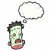 pic of frankenstein  - cartoon frankenstein monster head - JPG