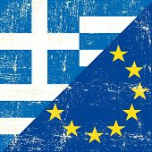Greek and european grunge Flag. flag of european union members