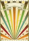 multicolor grunge. An old american vintage poster for your party