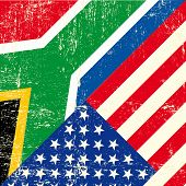 USA and south african grunge Flag. this flag represents the relationship  between South africa and t