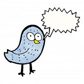 cartoon squawking bird