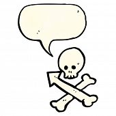 skull and crossbones arrow symbol