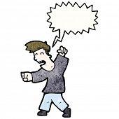 cartoon fighting man