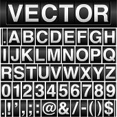 foto of currency  - Vector odometer background with interchangeable letters - JPG