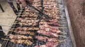 Greek Traditional Meat Barbecue, Souvlaki