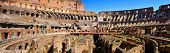 ROME, ITALY - APRIL 17: The Flavian Amphitheatre or Coliseum on April 17, 2013 in Rome, Italy. The C