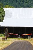 picture of ultralight  - A ultralite parked in an old barn on the Henry Estate Winery in Umpqua near Roseburg Oregon was one one of the first winerys in the Umpqua Valley - JPG