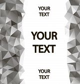 Gray polygons background with place for your text