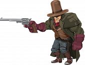Cowboy Gunman With Pistol