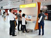 HONG KONG - OCTOBER 9: Free internet service in Tsim Sha Tsui Station October 9, 2012 in Hong Kong,