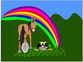 lucky horse rabbit animal symbol