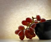Red Grapes, Black Bowl