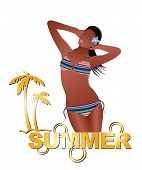 Summer Girl With Bikini