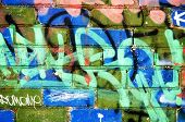 Paint Brick Wall Notes Marken Vandalismus Background