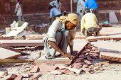 Red Fort In Agra, Amar Singh Gate, India, Uttar Pradesh Under Renovation