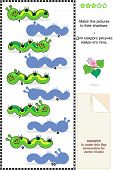 image of green caterpillar  - Visual puzzle or picture riddle - JPG