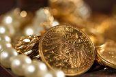 Twenty Deutsch Mark gold coins