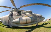 Togliatti, Russia - May 2: Military Helicopter Mi-26 At The Exhibition In The Technical Museum On Ma
