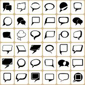 36 speech bubbles set