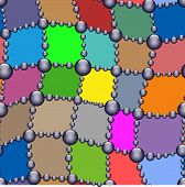 pic of scrappy  - patchwork and beadings seamless pattern vector illustration - JPG