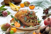 Roasted Turkey, Tropical Theme