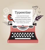image of old vintage typewriter  - Vintage Vector Typewriter - JPG