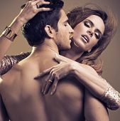 image of amour  - Sexy couple in intimacy relations - JPG