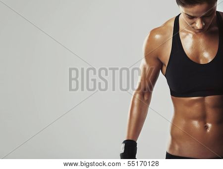 Female Resting With Intense Workout poster