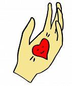 Valentine Heart In Hand