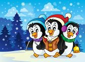 Christmas penguins theme image 2 - eps10 vector illustration.