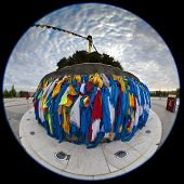 Fisheye photo of a Chinese minority's worship site