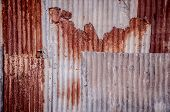 Old Galvanized Iron Wall Texture