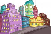 Doodle Illustration of a Cityscape Punctuated with Buildings