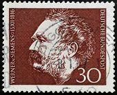 stamp shows Werner von Siemens Electrical Engineer and Inventor