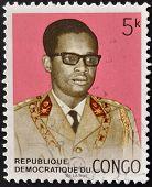 A stamp printed in Congo shows Mobutu