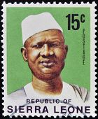 stamp printed in Sierra Leone shows Siaka Stevens