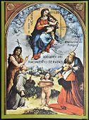 NICARAGUA - CIRCA 1983: A stamp printed in Nicaragua dedicated to 500th birthday of Raphael